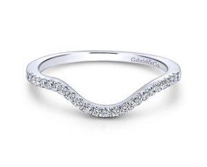Gabriel 14k White Gold Contemporary Curved Wedding BandWB5330W44JJ 11 300x243 - 14k White Gold Round Curved Diamond Wedding Band