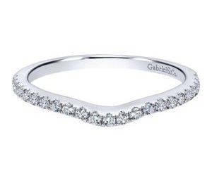 Gabriel 14k White Gold Contemporary Curved Wedding BandWB5375W44JJ 11 300x243 - 14k White Gold Round Curved Diamond Wedding Band
