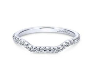 Gabriel 14k White Gold Contemporary Curved Wedding BandWB7544W44JJ 11 300x243 - 14k White Gold Curved Diamond Wedding Band