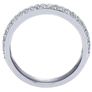 Gabriel 14k White Gold Contemporary Fancy Anniversary BandAN7662W44JJ 21 - 14k White Gold Round Fancy Diamond Anniversary Band