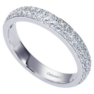 Gabriel 14k White Gold Contemporary Fancy Anniversary BandAN7662W44JJ 31 - 14k White Gold Round Fancy Diamond Anniversary Band