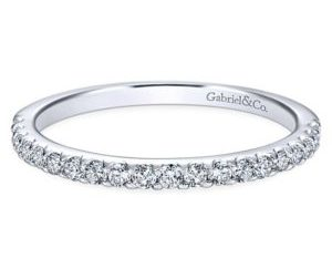 Gabriel 14k White Gold Contemporary Straight Wedding BandWB7480W44JJ 11 300x243 - Beaded Stackable Band