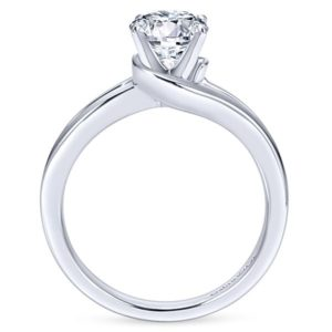 Gabriel Elise 14k White Gold Round Bypass Engagement RingER6680W4JJJ 21 - 14k White Gold Round Bypass Engagement Ring