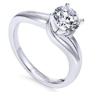 Gabriel Elise 14k White Gold Round Bypass Engagement RingER6680W4JJJ 31 - 14k White Gold Round Bypass Engagement Ring