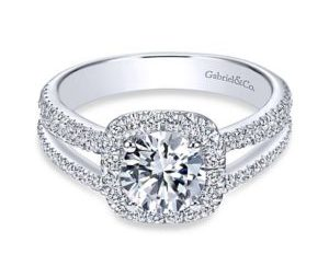 Gabriel Hillary 14k White Gold Round Halo Engagement RingER7786W44JJ 11 300x243 - 14k White Gold Round Halo Diamond Engagement Ring