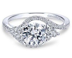 Gabriel Izzie 18k White Gold Round 3 Stones Engagement RingER5330W84JJ 11 300x243 - 18k White Gold Round 3 Stones Diamond Engagement Ring