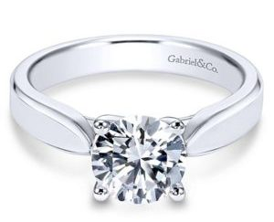 Gabriel Jamie 14k White Gold Round Solitaire Engagement RingER6592W4JJJ 11 300x243 - 14k White Gold Round Solitaire Engagement Ring