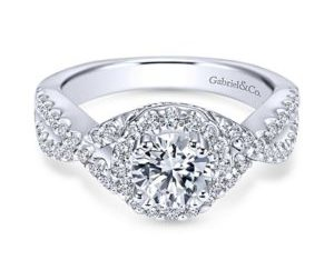 Gabriel Kendie 14k White Gold Round Halo Engagement RingER5798W44JJ 11 300x243 - 14k White Gold Round Halo Diamond Engagement Ring