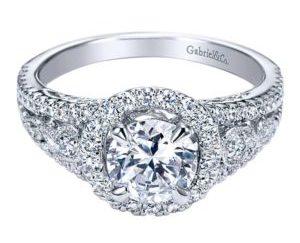 Gabriel Marlena 14k White Gold Round Halo Engagement RingER5375W44JJ 11 300x243 - 14k White Gold Round Halo Diamond Engagement Ring