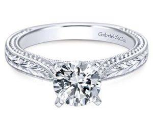 Gabriel Maura 14k White Gold Round Solitaire Engagement RingER6636W4JJJ 11 300x243 - Vintage 14k White Gold Round Solitaire Engagement Ring