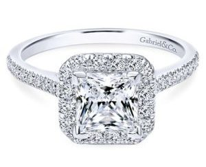 Gabriel Patience 14k White Gold Princess Cut Halo Engagement RingER7266W44JJ 11 300x243 - 14k White Gold Round Bypass Engagement Ring