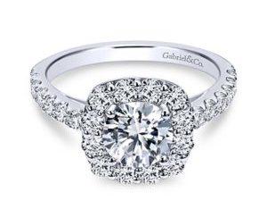 Gabriel Skylar 14k White Gold Round Halo Engagement RingER7480W44JJ 11 300x243 - 14k White Gold Round Halo Diamond Engagement Ring