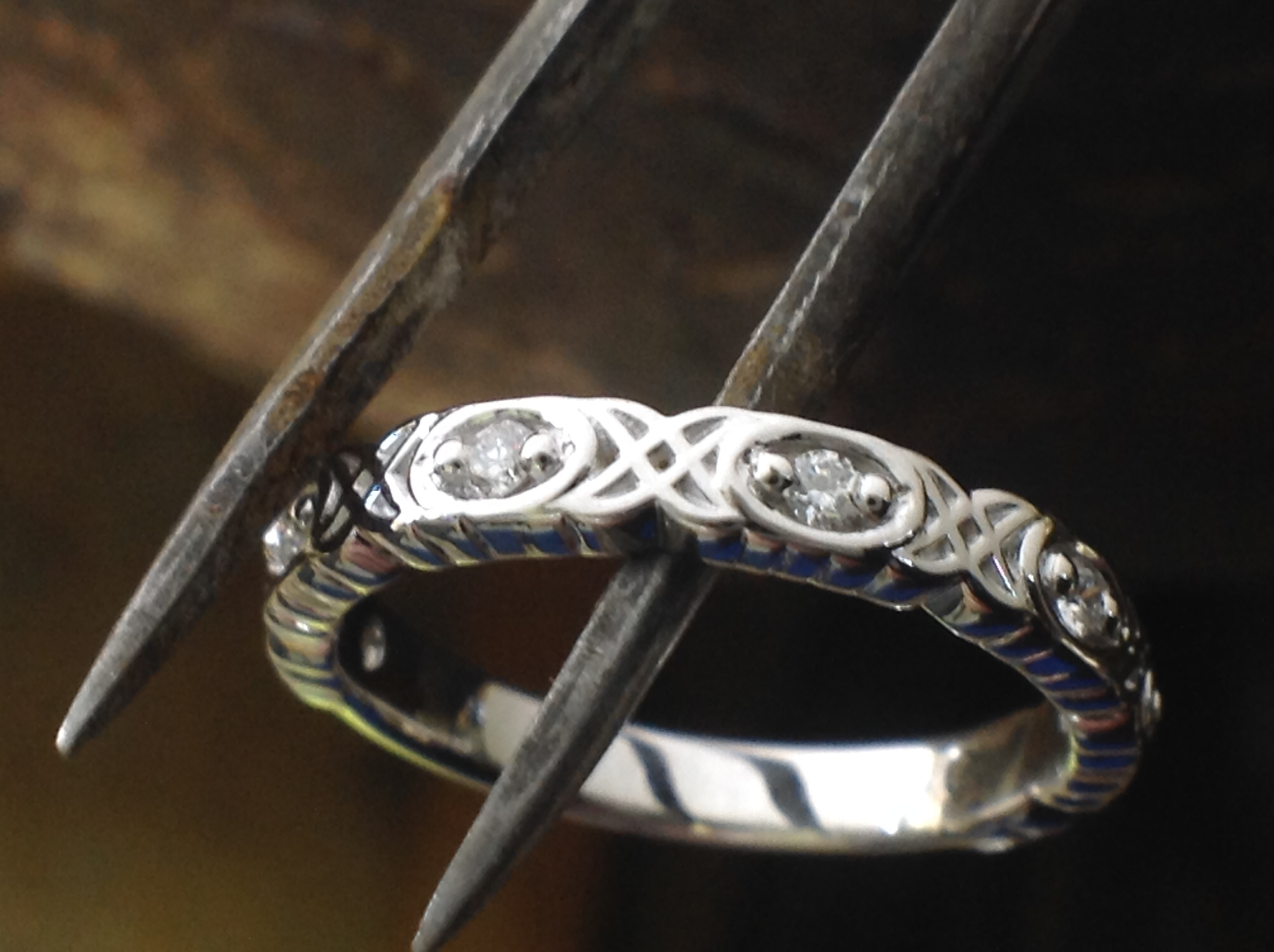 Celtic-Inspired Diamond Band