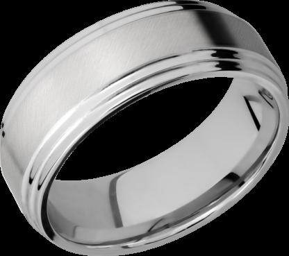 CC8F2S FINISHANGLE SATINPOLISH IMAGE0011 416x369 - Cobalt Chrome Angle Satin Finish Men's Ring
