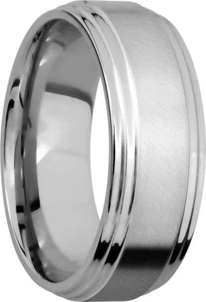 CC8F2S FINISHANGLE SATINPOLISH IMAGE0021 416x610 - Cobalt Chrome Angle Satin Finish Men's Ring