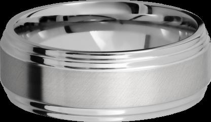 CC8F2S FINISHANGLE SATINPOLISH IMAGE0031 416x241 - Cobalt Chrome Angle Satin Finish Men's Ring