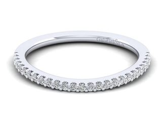Gabriel 14k White Gold Contemporary Curved Wedding BandWB7277R5W44JJ 11 324x243 - 14k White Gold Curved Diamond Wedding Band
