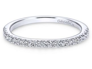 Gabriel 14k White Gold Contemporary Curved Wedding BandWB7482W44JJ 11 324x243 - 14k White Gold Curved Diamond