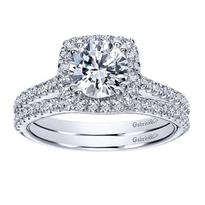 Gabriel 14k White Gold Contemporary Curved Wedding BandWB8152W44JJ 41 416x416 - 14k White Gold Round Curved Diamond