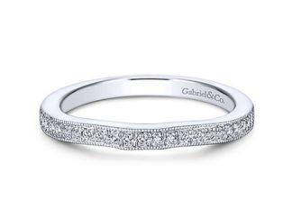 Gabriel 14k White Gold Contemporary Straight Wedding BandWB6389W44JJ 11 324x243 - 14k White Gold Straight Diamond Wedding Band