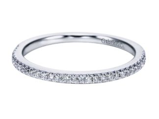 Gabriel 14k White Gold Contemporary Straight Wedding BandWB6710W44JJ 11 324x243 - 14k White Gold Round Halo Diamond