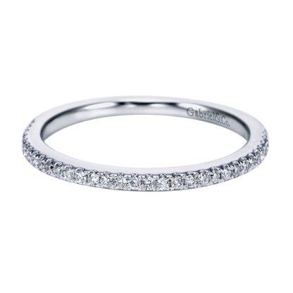 Gabriel 14k White Gold Contemporary Straight Wedding BandWB6710W44JJ 11 416x416 - 14k White Gold Straight Diamond