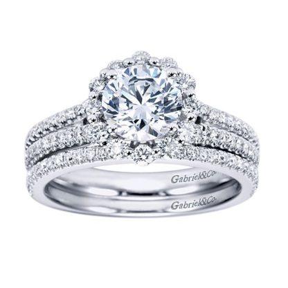 Gabriel 14k White Gold Contemporary Straight Wedding BandWB6710W44JJ 41 416x416 - 14k White Gold Straight Diamond