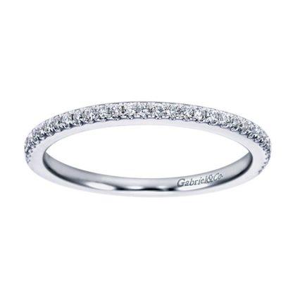Gabriel 14k White Gold Contemporary Straight Wedding BandWB6710W44JJ 51 416x416 - 14k White Gold Straight Diamond