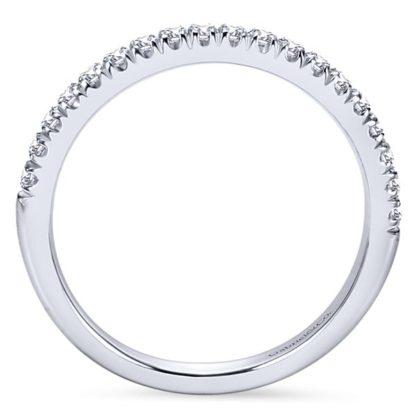 Gabriel 14k White Gold Contemporary Straight Wedding BandWB6872W44JJ 21 416x416 - 14k White Gold Round Straight Diamond