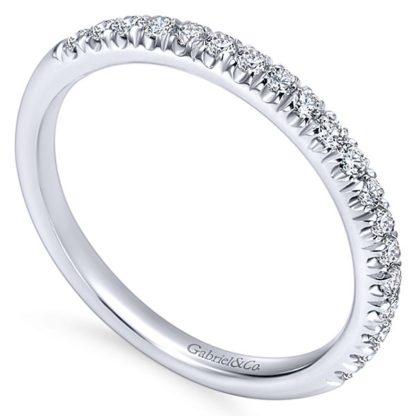 Gabriel 14k White Gold Contemporary Straight Wedding BandWB6872W44JJ 31 416x416 - 14k White Gold Round Straight Diamond
