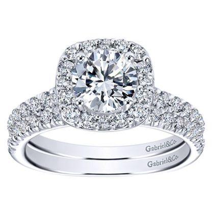 Gabriel 14k White Gold Contemporary Straight Wedding BandWB6872W44JJ 41 416x416 - 14k White Gold Round Straight Diamond