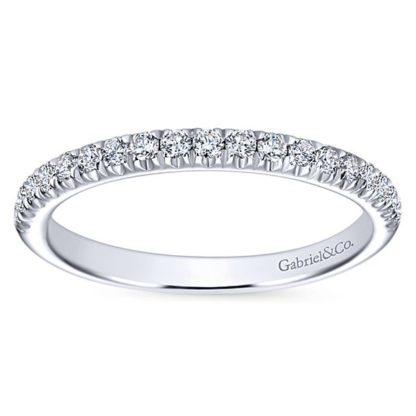 Gabriel 14k White Gold Contemporary Straight Wedding BandWB6872W44JJ 51 416x416 - 14k White Gold Round Straight Diamond