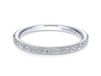 Gabriel 14k White Gold Contemporary Straight Wedding BandWB6984W44JJ 11 324x243 - 14k White Gold Straight Diamond