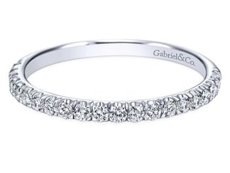 Gabriel 14k White Gold Contemporary Straight Wedding BandWB7261W44JJ 11 324x243 - 14k White Gold Round Straight Diamond