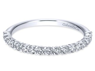 Gabriel 14k White Gold Contemporary Straight Wedding BandWB7498W44JJ 11 324x243 - 14k White Gold Straight Diamond