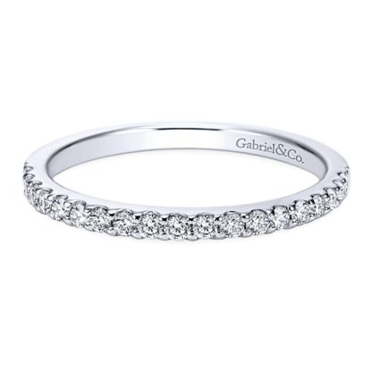 Gabriel 14k White Gold Contemporary Straight Wedding BandWB7510W44JJ 11 416x416 - 14k White Gold Round Straight Diamond