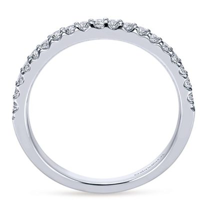 Gabriel 14k White Gold Contemporary Straight Wedding BandWB7510W44JJ 21 416x416 - 14k White Gold Round Straight Diamond