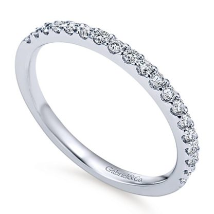 Gabriel 14k White Gold Contemporary Straight Wedding BandWB7510W44JJ 31 416x416 - 14k White Gold Round Straight Diamond