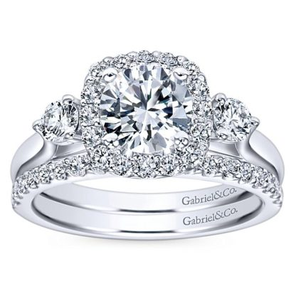 Gabriel 14k White Gold Contemporary Straight Wedding BandWB7510W44JJ 41 416x416 - 14k White Gold Round Straight Diamond