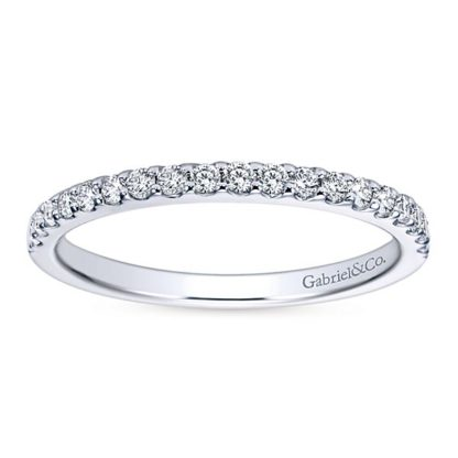 Gabriel 14k White Gold Contemporary Straight Wedding BandWB7510W44JJ 51 416x416 - 14k White Gold Round Straight Diamond