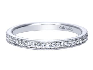 Gabriel 14k White Gold Contemporary Straight Wedding BandWB7811W44JJ 11 324x243 - 14k White Gold Straight Diamond