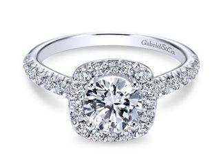 Gabriel 14k White Gold Round Halo Engagement RingER6872W44JJ 11 324x243 - 14k White Gold Round Halo Diamond
