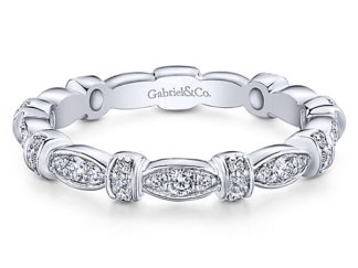 Gabriel 14k White Gold Stackable Ladies RingLR4579W45JJ 11 324x243 - 14k White Gold Stackable Diamond Ladies' Ring