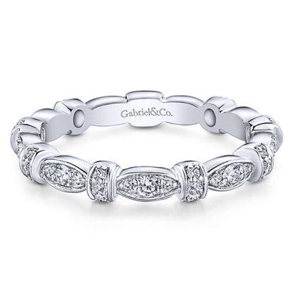 Gabriel 14k White Gold Stackable Ladies RingLR4579W45JJ 11 416x416 - 14k White Gold Stackable Diamond Ladies' Ring