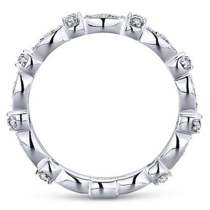 Gabriel 14k White Gold Stackable Ladies RingLR4579W45JJ 21 416x416 - 14k White Gold Stackable Diamond Ladies' Ring