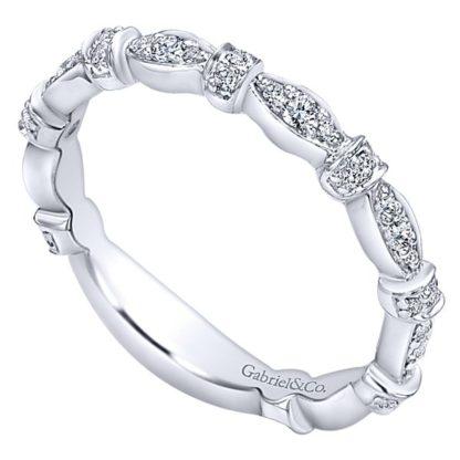 Gabriel 14k White Gold Stackable Ladies RingLR4579W45JJ 31 416x416 - 14k White Gold Stackable Diamond Ladies' Ring