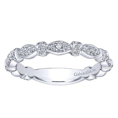 Gabriel 14k White Gold Stackable Ladies RingLR4579W45JJ 41 416x416 - 14k White Gold Stackable Diamond Ladies' Ring