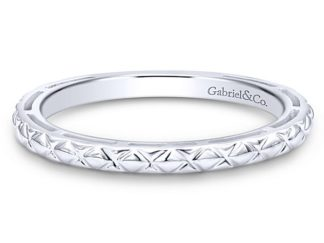 Gabriel 14k White Gold Stackable Ladies RingLR4583W4JJJ 11 324x243 - 14k White Gold Stackable Ladies Ring