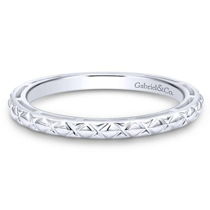 Gabriel 14k White Gold Stackable Ladies RingLR4583W4JJJ 11 416x416 - 14k White Gold Stackable Ladies Ring