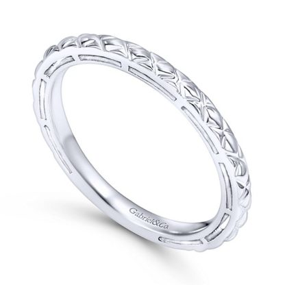 Gabriel 14k White Gold Stackable Ladies RingLR4583W4JJJ 31 416x416 - 14k White Gold Stackable Ladies Ring
